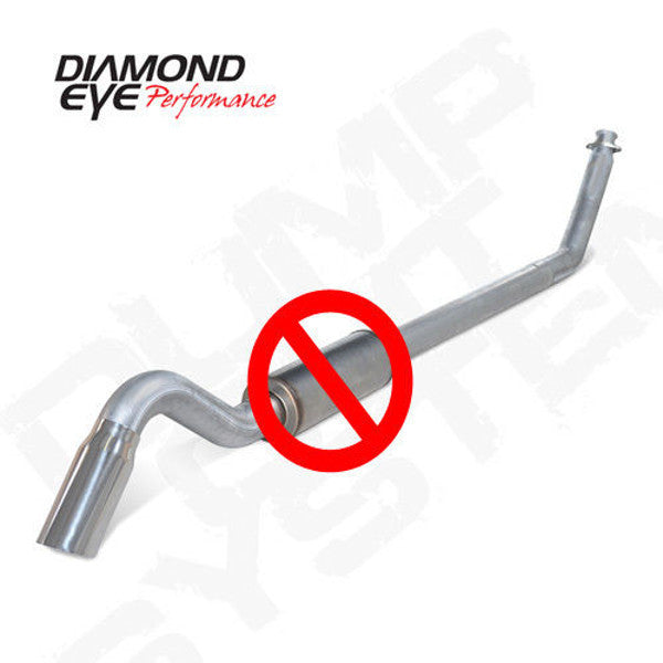 "Diamond Eye  K4212A-TDRP 1994 - 2002 Dodge Cummins  4"" Turn Down Aluminized  (No Muffler)"