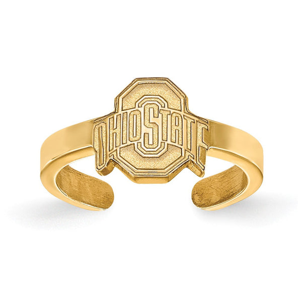 Ohio State Gold Plated Toe Ring