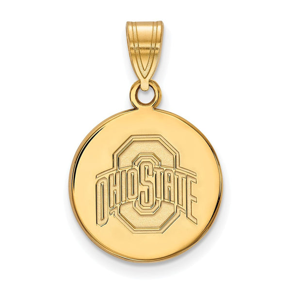 Ohio State 14k Medium Disc Pendant