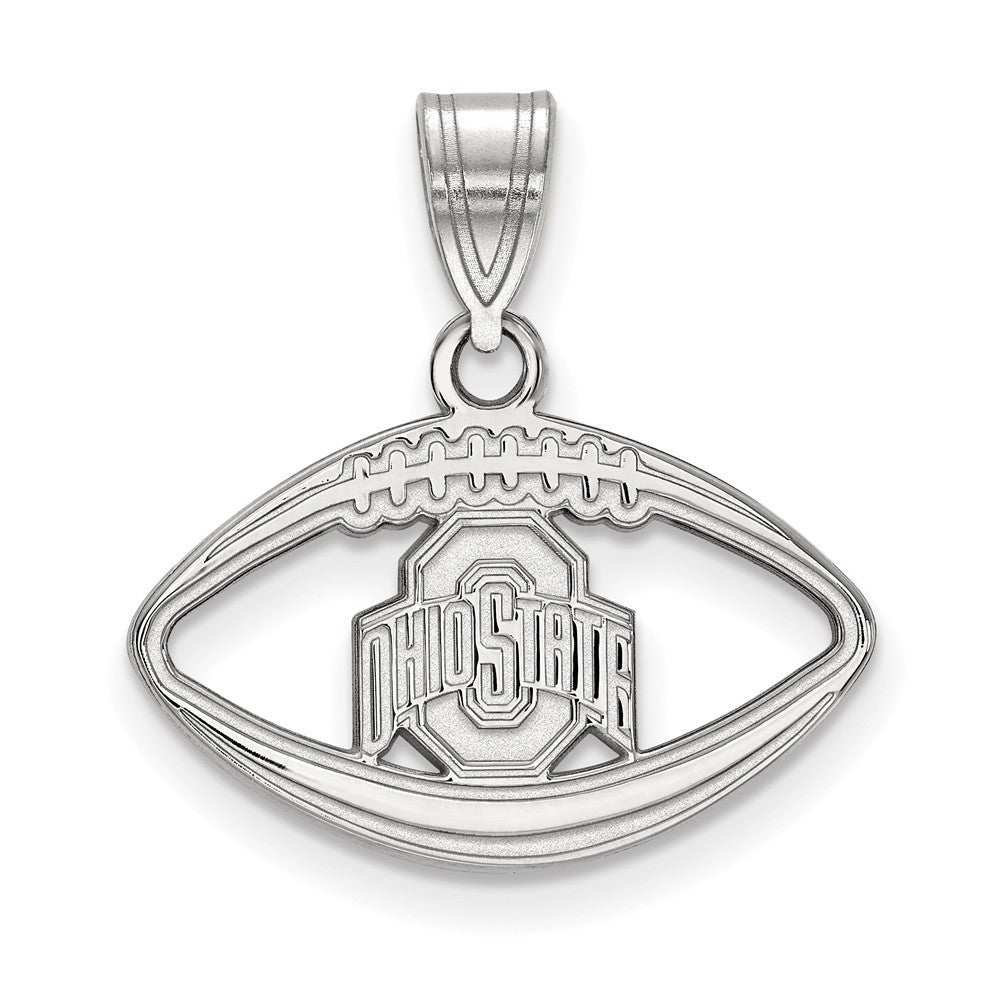 Sterling Silver Ohio State University Football Pendant