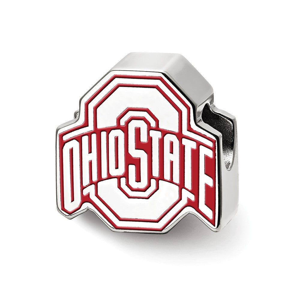 Ohio State Enameled Logo Bead