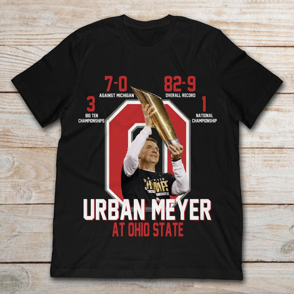 Urban Meyer At Ohio State With Achievement T-Shirt