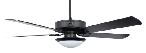 Classic series Matte Black LED low Profile fan with Black Blades