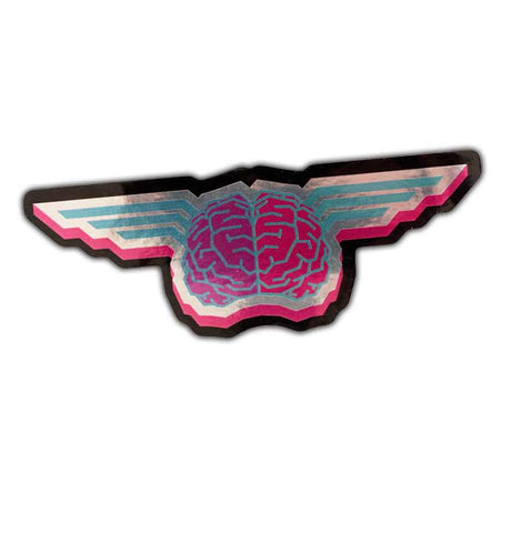 Cult Wheels Winged Brain Foil Sticker