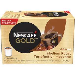 GOLD MEDIUM ROAST & GROUND Coffee Capsules (12ct)
