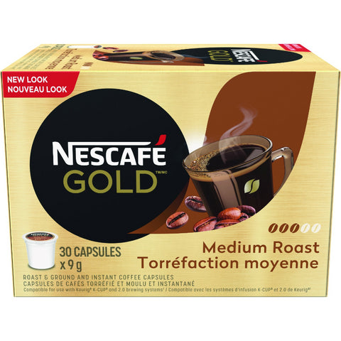 GOLD MEDIUM ROAST & GROUND Coffee Capsules (30ct)