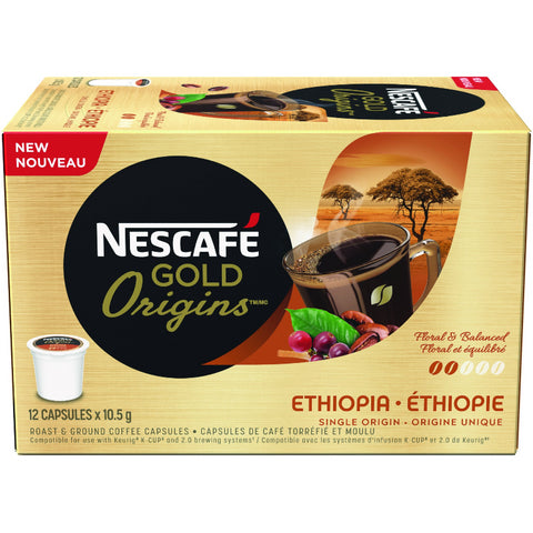 GOLD ORIGINS ETHIOPIA Coffee Capsules (12 ct)