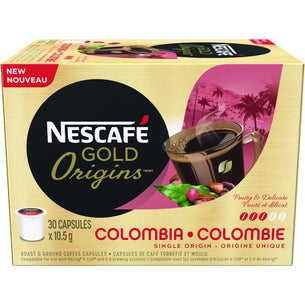 GOLD ORIGINS COLOMBIA Coffee Capsules (30 ct)
