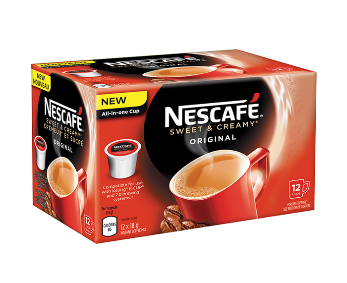 NESCAFÉ® Sweet & Creamy Original Coffee Pods - Keurig® K-CUP® Compatible (12 cups)