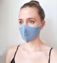 "Load image into Gallery viewer, ""Denim Look"" Face Mask"