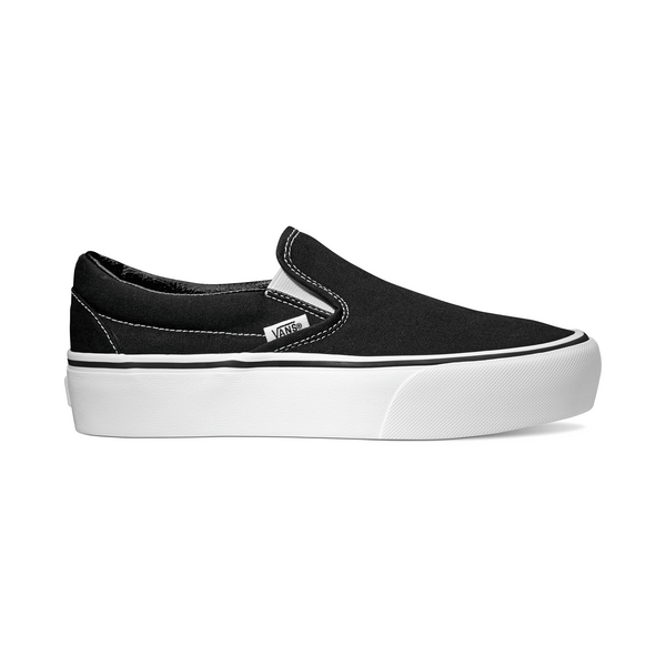 VANS WOMENS CLASSIC SLIP-ON PLATFORM  - BLACK
