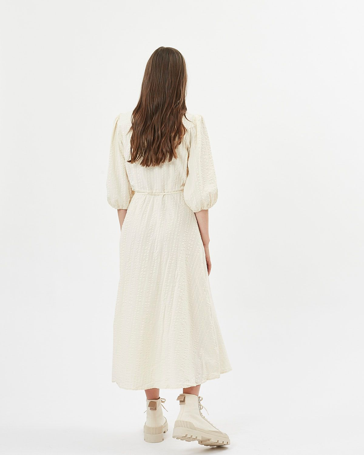 MINIMUM ELMINA DRESS - CORNHUSK