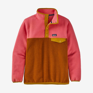 PATAGONIA GIRLS LIGHTWEIGHT SYNCHILLA SNAP-T FLEECE PULLOVER