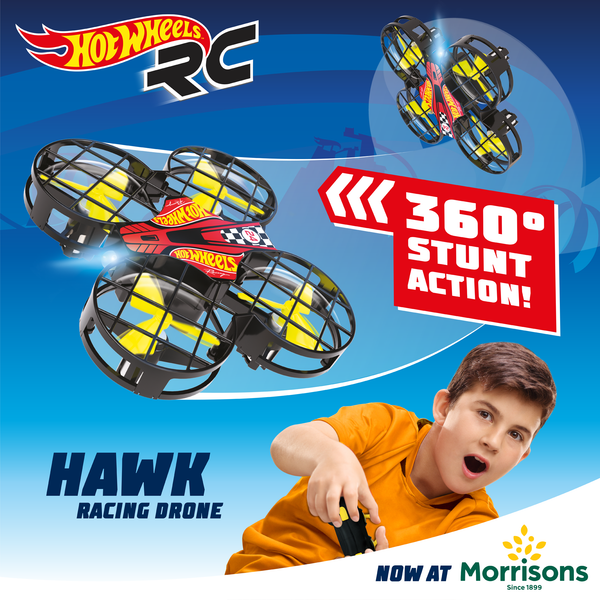 New Hot Wheels DRX Hawk Drone Lands at Morrisons