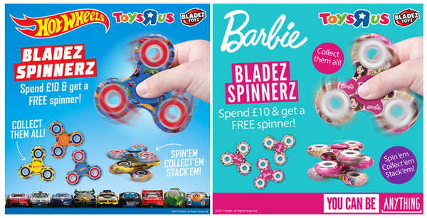 Free Bladez Spinnerz at Toys R Us