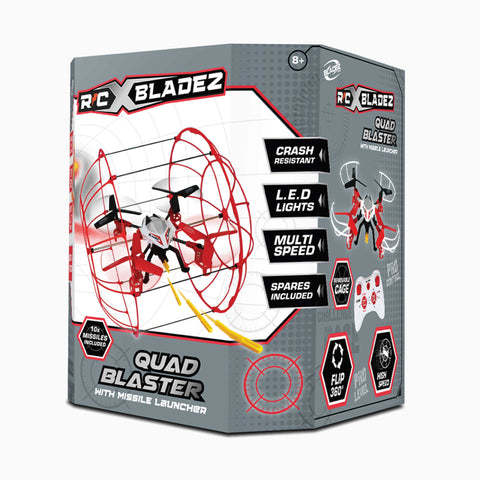 Argos Exclusive - RC X Bladez Quad Racer with Missile Launcher