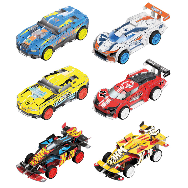 Hot Wheels Maker Kitz - 6 Car Grand Prix Set