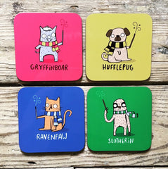 Harry Potter Pun Coasters | Gifts for Animal Lovers