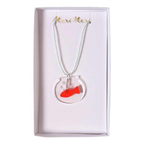 Fish Bowl Necklace by Meri Meri