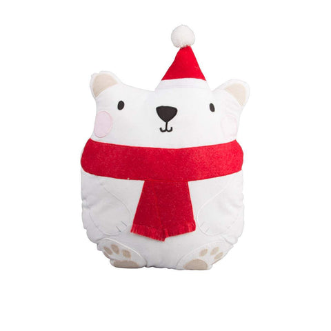 Sass & Belle Polar Bear Christmas Cushion