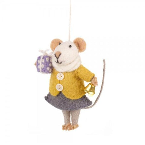 Gifting Mouse Christmas Tree Decoration | Fair Trade Festive Decor