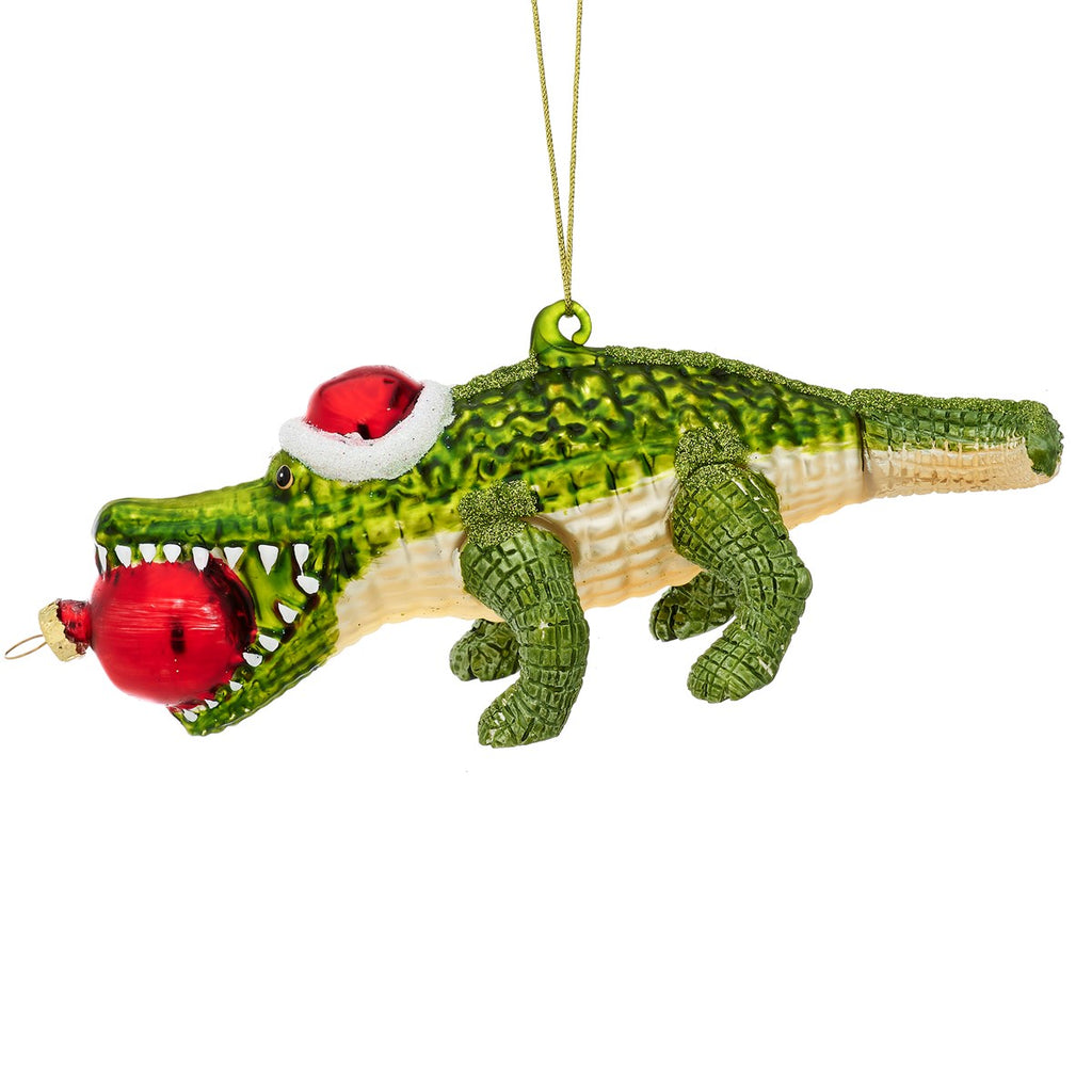 Christmas Alligator Bauble | Animal Hanging Decorations
