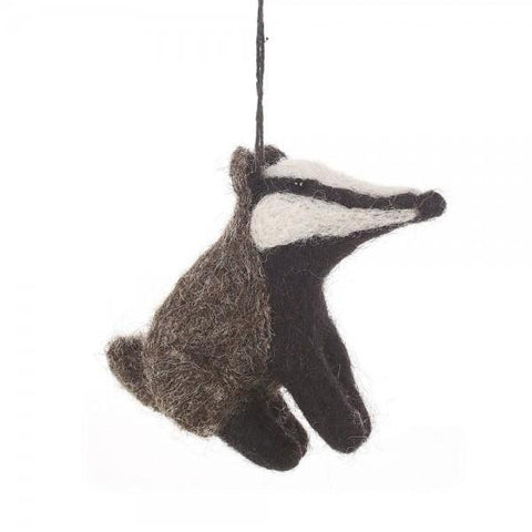 Bertie Badger Christmas Tree Decoration | Fair Trade Gifts