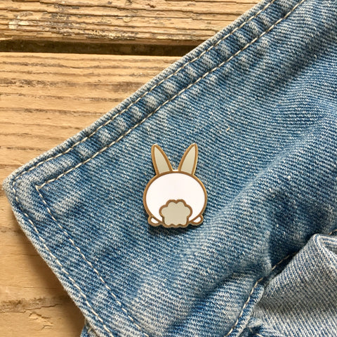 Bummy Rabbit Enamel Pin | Funny Gifts for Animal Lovers