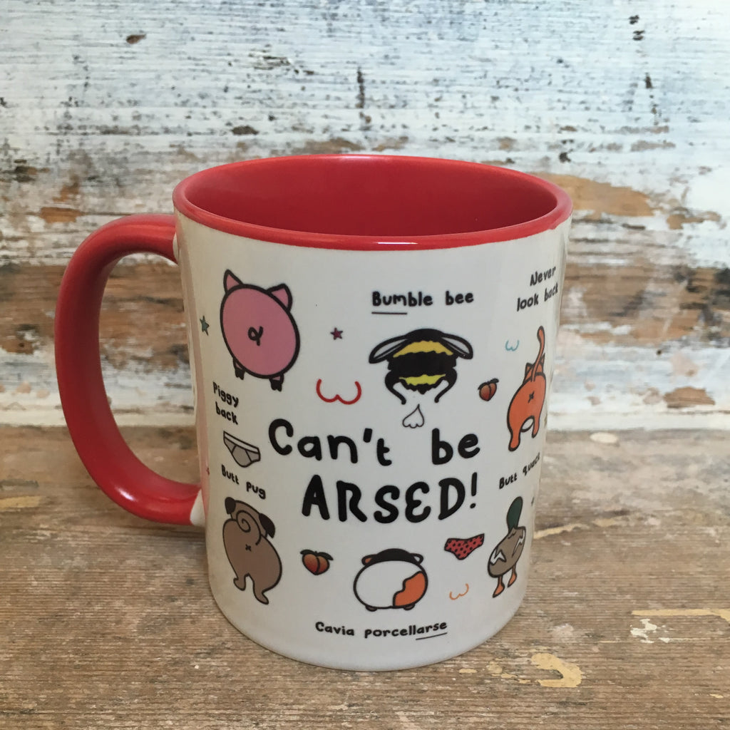 Can't Be Arsed Mug | Funny Animal Homeware Gifts