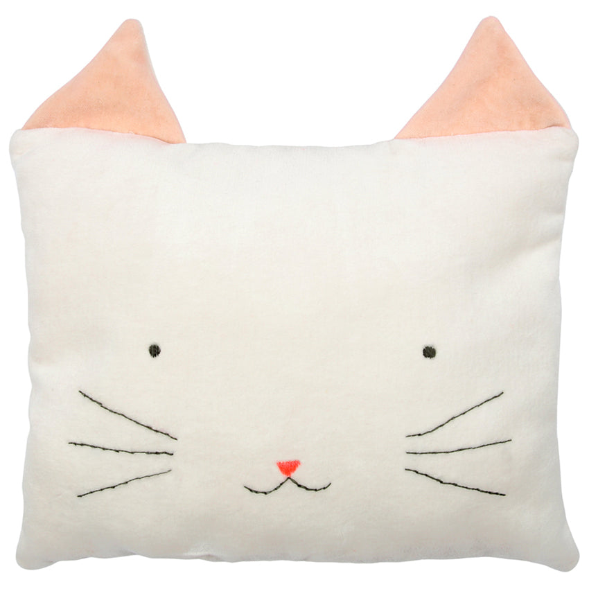 Rectangle Cat Cushion by Meri Meri | Animal Cushions