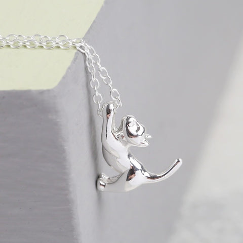 Sterling Silver Cat Necklace | Animal Jewellery