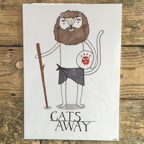 Cats Away Print | Punny Cat Themed Gifts