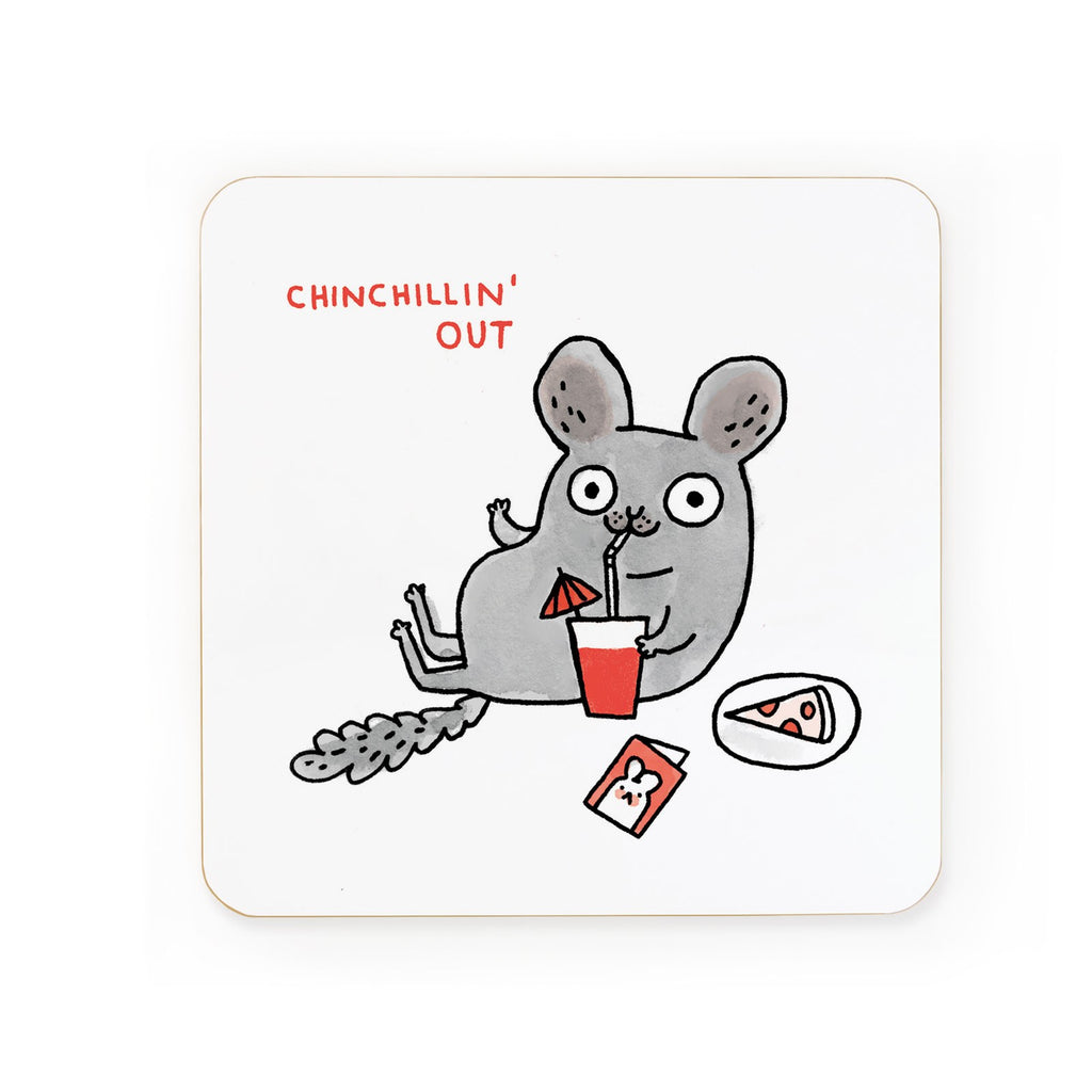 Chinchillin' Out Coaster | Gifts for Animal Lovers