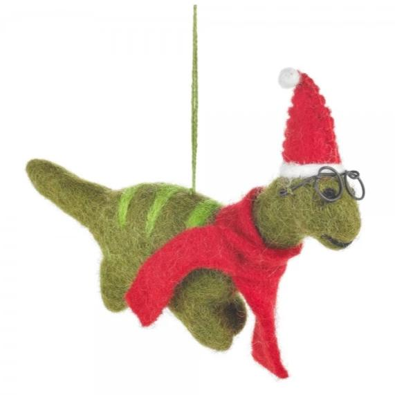 Christmas Dinosaur Decoration | Fair Trade Felt Animal Baubles