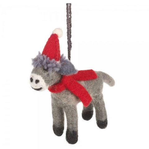 Christmas Donkey Decoration | Animal Themed Christmas Decorations