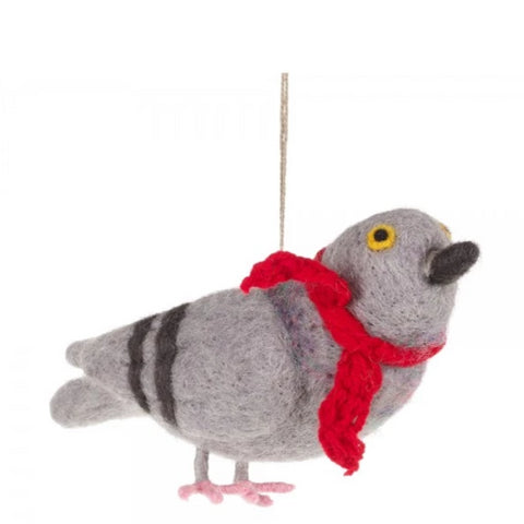 Cosy Pigeon Christmas Decoration | Gifts for Bird Lovers