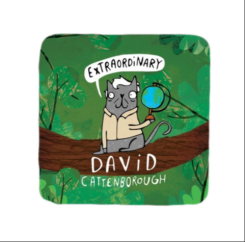David Cattenborough Coaster | Gifts for Animal Lovers