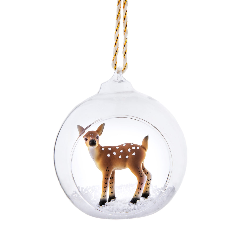 Deer Open Bauble | Animal Christmas Tree Decorations