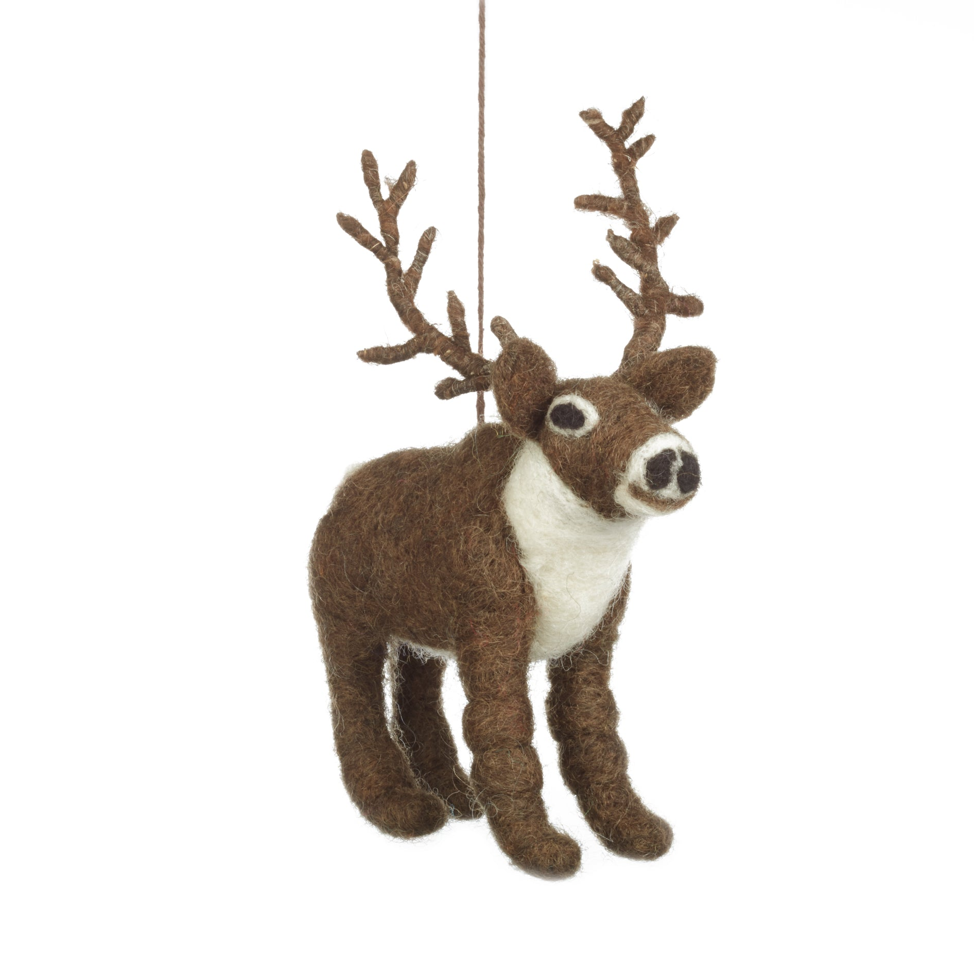 fair trade elk christmas tree decoration animal christmas decorations - Animal Christmas Decorations