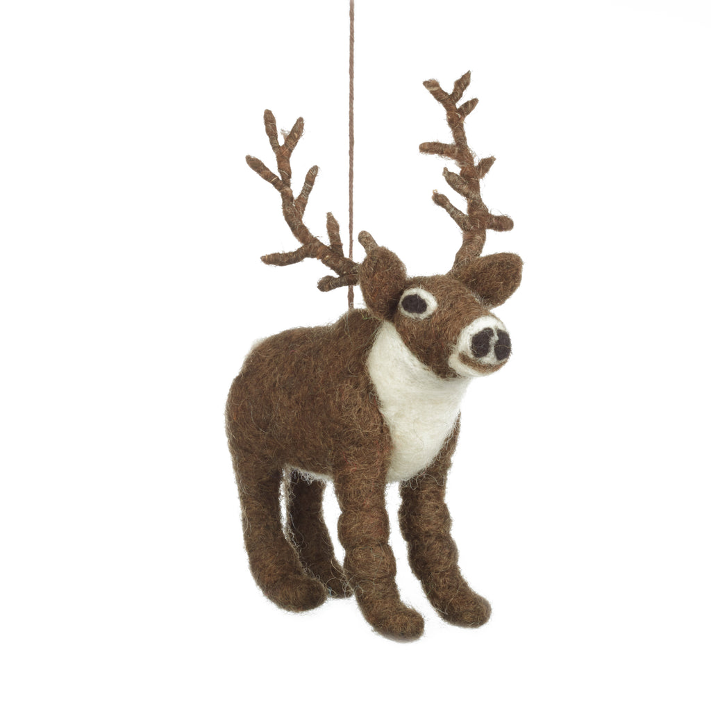 Fair Trade Elk Christmas Tree Decoration | Animal Christmas Decorations