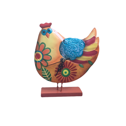 Fair Trade Hen Clock | Bird Home Decor