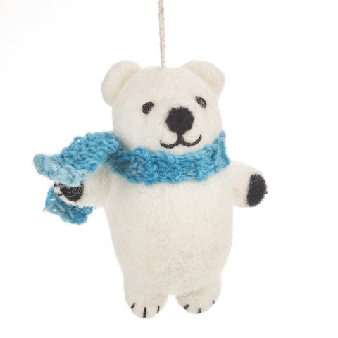 Fair Trade Polar Bear Christmas Decoration | Christmas at Gifts for Animal Lovers