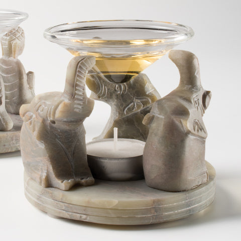 Fair Trade Soapstone Elephant Oil Burner | Handmade Gifts