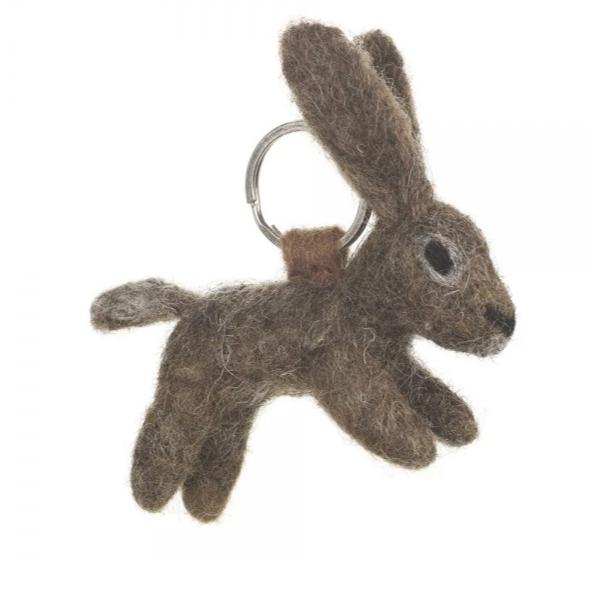 Fair Trade Hare Keyring | Animal Themed Accessories