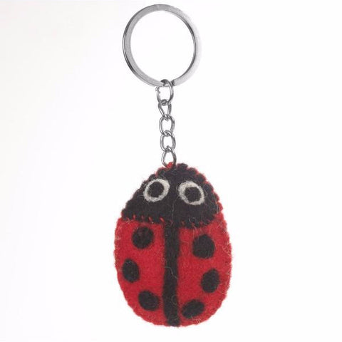 Fair Trade Ladybird Keyring | Animal Themed Keyrings