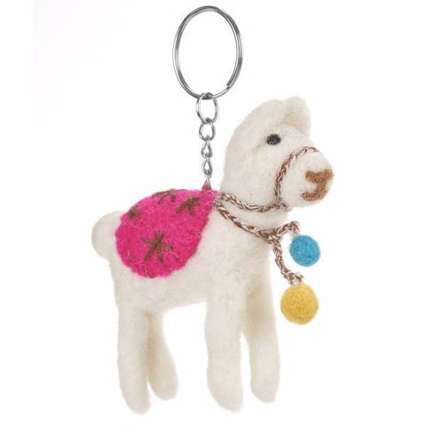 Fair Trade Lama Keyring by Felt So Good | Gifts for Animal Lovers
