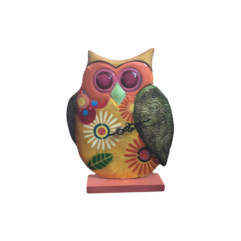 Fair Trade Owl Clock | Bird Lover Gifts