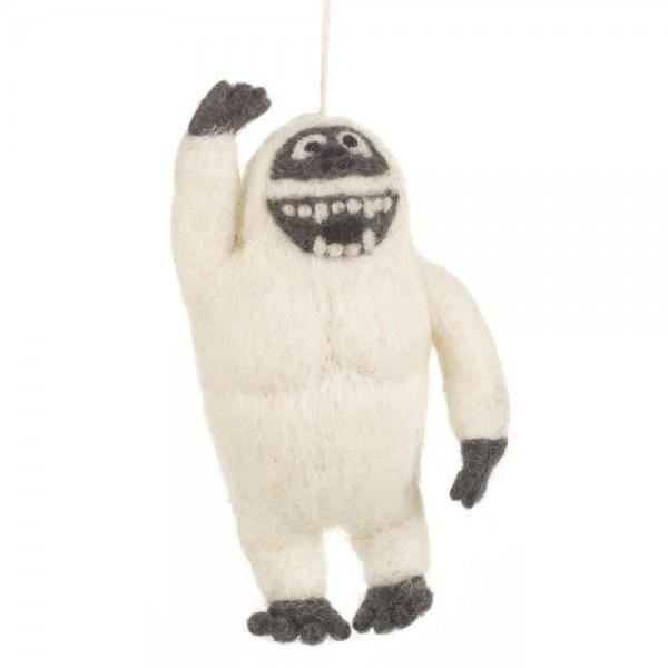 Fair Trade Yeti Christmas Tree Decoration
