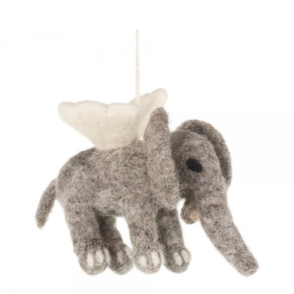 Flying Elephant Christmas Decoration | Animal Festive Decor