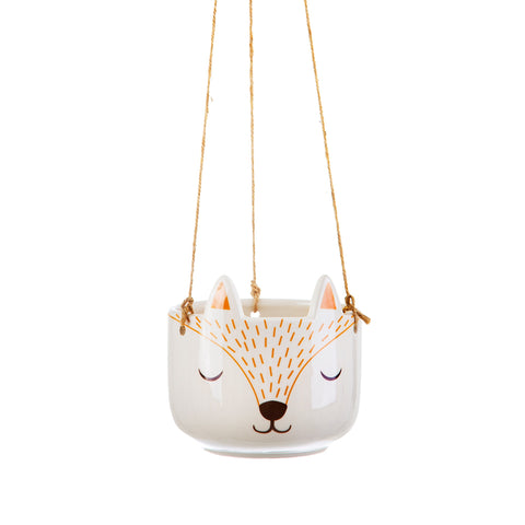 Fox Hanging Plant Pot | Woodland Animal Homeware